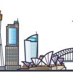 banner-sydney-city-skyline-flat-line-trendy-style-sydney-city-line-art_310772-10
